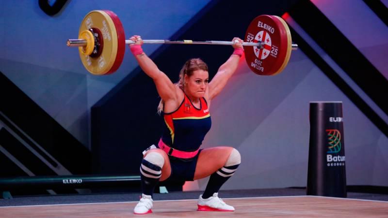 Lydia Valentín se queda a un kilo de revalidar el título Europeo