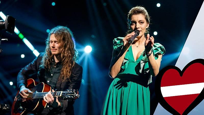 """Eurovisión 2019 - Carousel (Letonia): Videoclip de """"That night"""""""