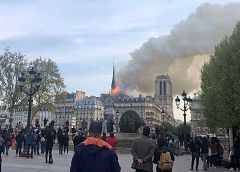 La catedral de Notre Dame, en llamas