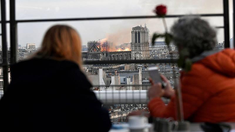 """Una vecina de París, sobre el incendio de Notre Dame: """"Tuve que cambiar de canal, me da muchísima pena"""""""