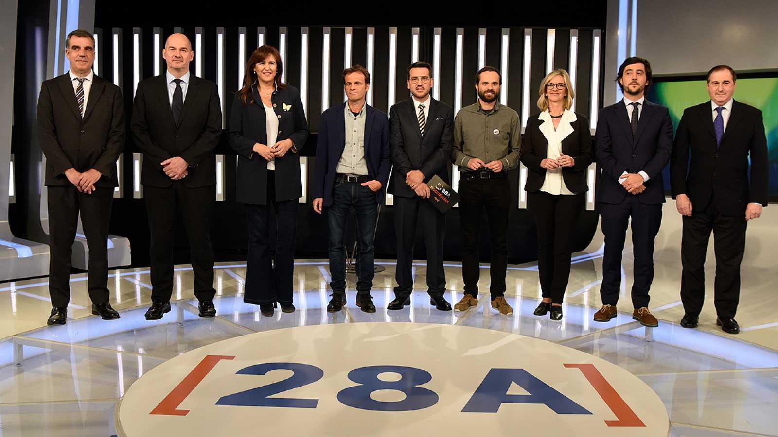 Debate catalán en TVE: Minuto final de los candidatos
