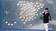 Hoy, lluvia en Galicia, Cataluña y Pirineo y poco nuboso en resto del país