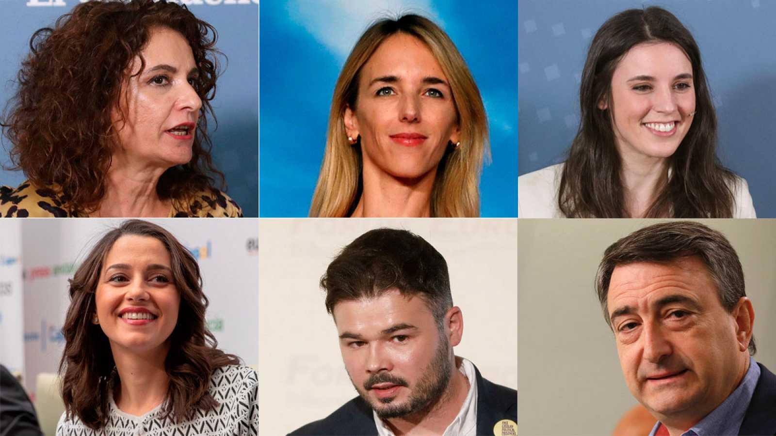 Debate a seis en RTVE con Álvarez de Toledo, María Jesús Montero, Irene Montero, Arrimadas, Rufián y Aitor Esteban