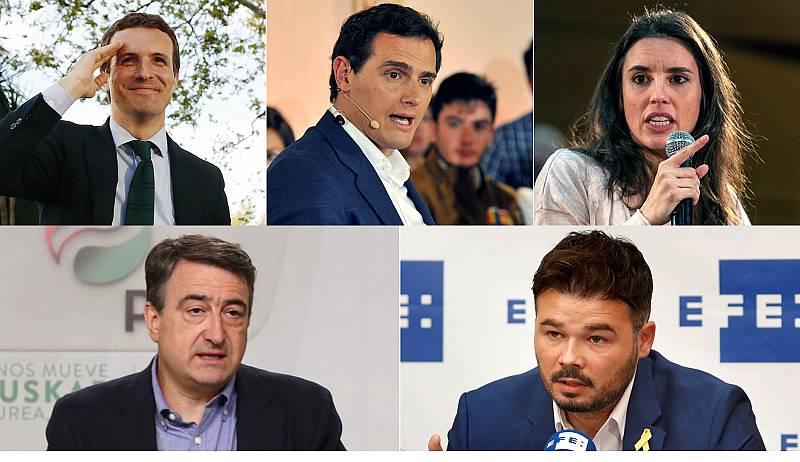 Los partidos políticos reaccionan a la oferta de un debate a cuatro en RTVE