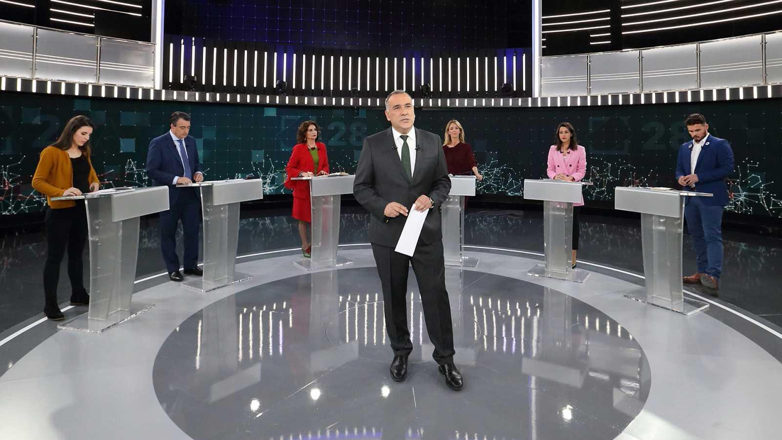 Los mejores momentos del debate a seis en TVE