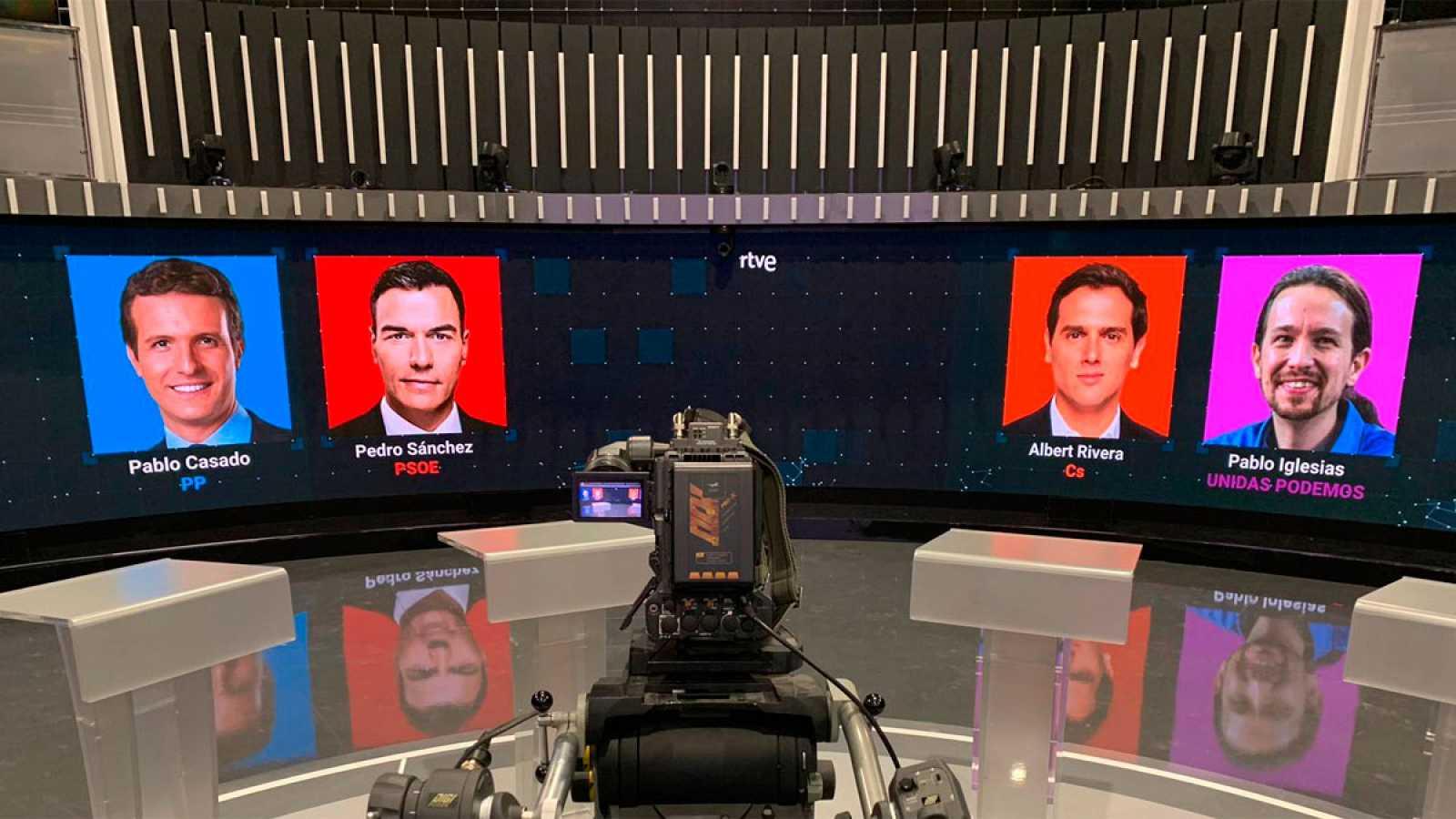 Así será el debate a cuatro en RTVE