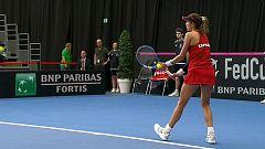 Tenis - Copa Federación. 2ª Ronda: Bélgica - España (1º partido individual)