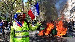 Disturbios y enfrentamientos con la Policía durante una nueva protesta de los 'chalecos amarillos' en París