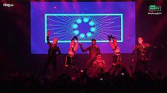 """Eurovisión 2019 - Hatari canta """"Hatrio mun sigra"""" en la Preparty"""