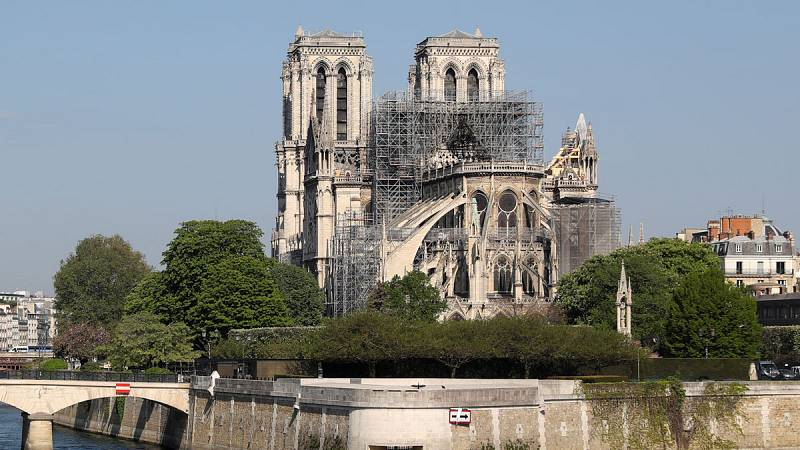 Las consecuencias del incendio de Notre Dame a vista de dron