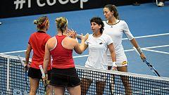 Tenis - Copa Federación. 2ª Ronda: Bélgica - España (5º partido dobles)
