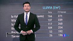 Precipitaciones fuertes en el sureste peninsular y Melilla