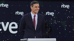 "Sánchez: ""¿Queremos que España continúe avanzando o retroceda?"""