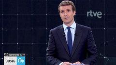 """Casado, en su minuto de oro: """"Pido el voto para trabajar por usted, por España"""""""