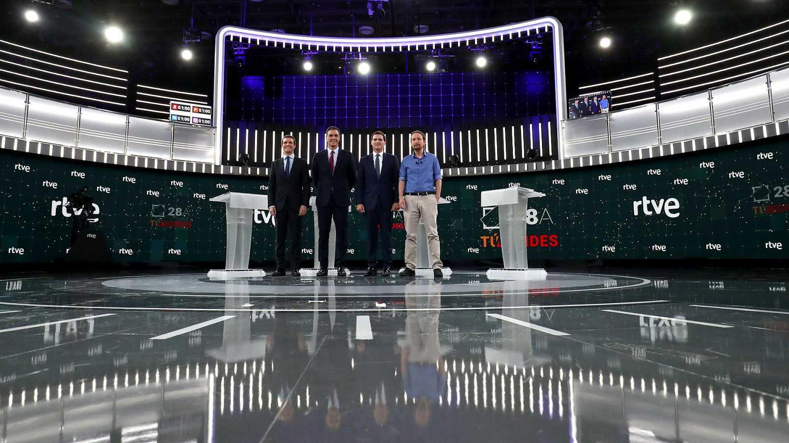 Los mejores momentos del debate en RTVE: feminismo, fotos e indultos