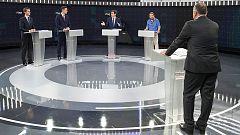 El tono más bronco del debate en RTVE llegó con las referencias a Cataluña