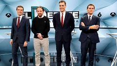 Casado y Rivera se enzarzan por el voto de la derecha en un debate que aleja aún más a PSOE y Cs