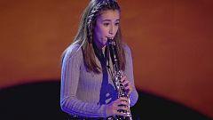 Carla demuestra técnica y corazón con su clarinete