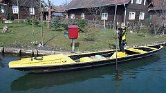 En la Venecia alemana el correo llega en canoa