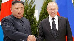 Primera cumbre de Putin y Kim Jong-un con el objetivo de avanzar en la desnuclearización de la península coreana