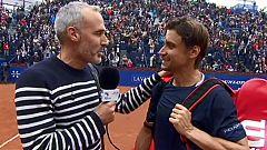 "Ferrer: "" Estoy muy feliz de haberme despedido ante Rafa"""