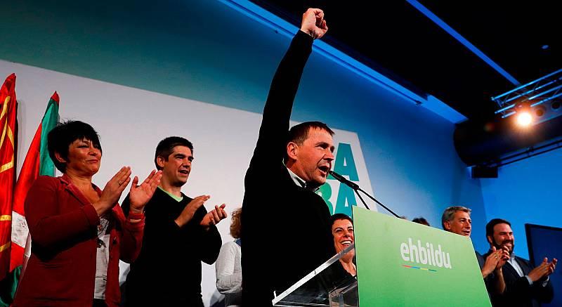 """El secretario general de EH Bildu, Arnaldo Otegi, ha valorado en clave muy positiva los resultados de su formación en las Elecciones Generales 2019.  """"Hemos luchado en un marco de unas elecciones que no son las nuestras"""", ha dicho, y ha subrayado el"""