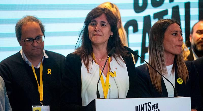 """La número dos de Junts per Catalunya, Laura Borràs, cree que Catalunya """"ha hecho un muy buen resultado electoral"""" en las Elecciones Generales 2019, tras obtener siete diputados su formación y sumando los quince de ERC.""""Leídas, desde Cataluña, estas e"""