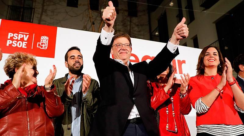 Los socialistas ganan en las autonómicas valencianas y pueden formar Gobierno con Compromís y Unides Podem