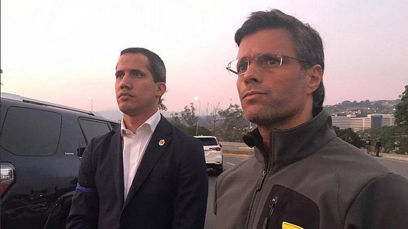 Juan Guaidó libera al opositor venezolano Leopoldo López