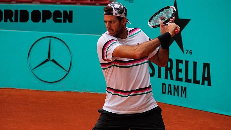 Tras dos meses de inactividad, el tenista argentino Juan Martín del Potro ya se prepara sobre la tierra batida de Madrid, donde disputará su segundo torneo de la temporada, el Mutua Madrid Open.