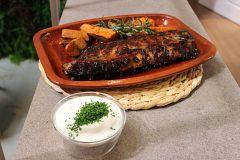Hacer de comer - Timbal de verduras y costillas a la miel