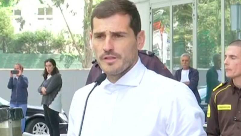 Casillas sale del hospital cinco días después de sufrir un infarto