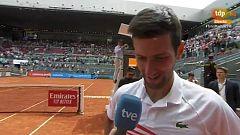 """Djokovic: """"Estoy muy contento de estar en Madrid un año más"""""""