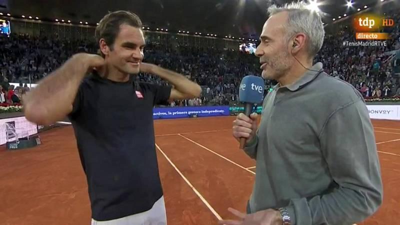 Roger Federer, tras sellar su regreso a Madrid con una victoria sobre Gasquet, ha asegurado que echaba de menos volver a este torneo y ha reconocido que sintió nervios antes de su estreno en la Caja Mágica.