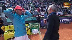 """Rafa Nadal: """"Después del virus estomacal, el partido era muy importante"""""""