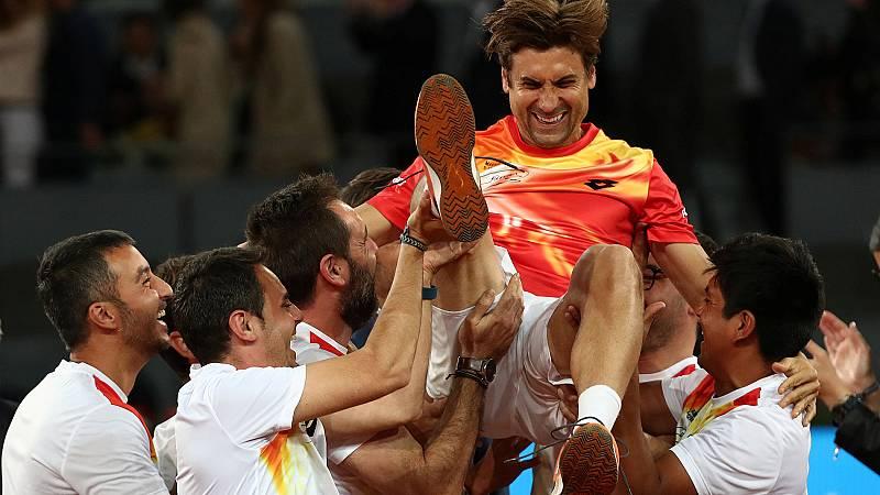David Ferrer ha dado sus últimos golpes en el partido del Madrid Open contra Alexander Zverev, que se ha impuesto al jugador español y ha puesto fina a su carrera deportiva.