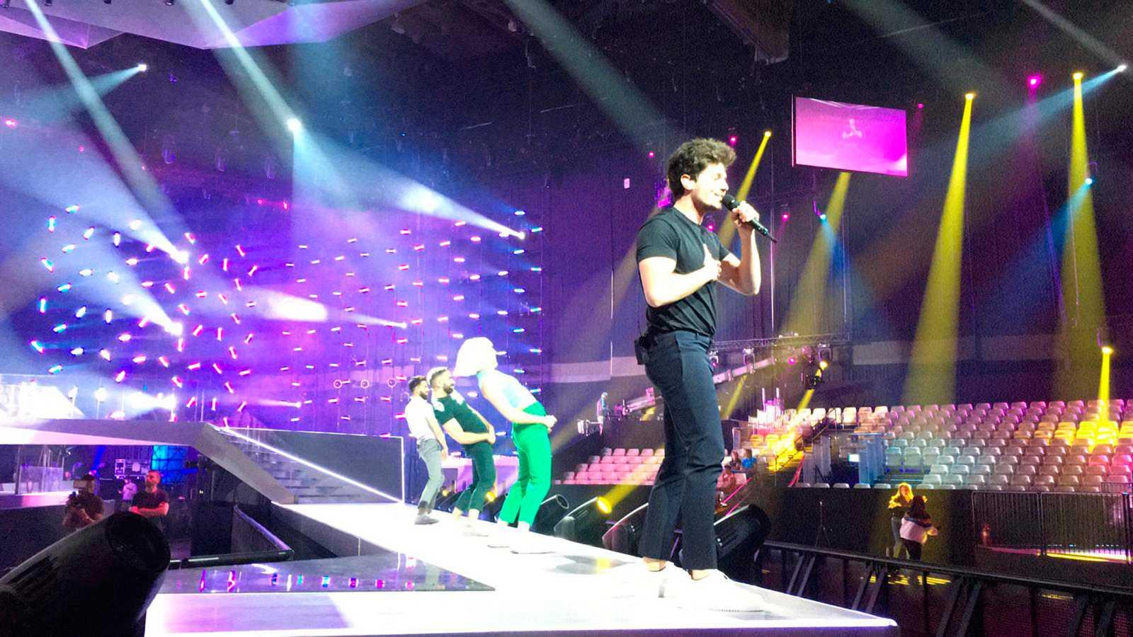 """Eurovisión 2019 - Así ha sido el primer pase de """"La venda"""" en Tel Aviv"""