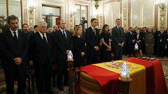 Los reyes despiden a Rubalcaba en el Congreso de los Diputados