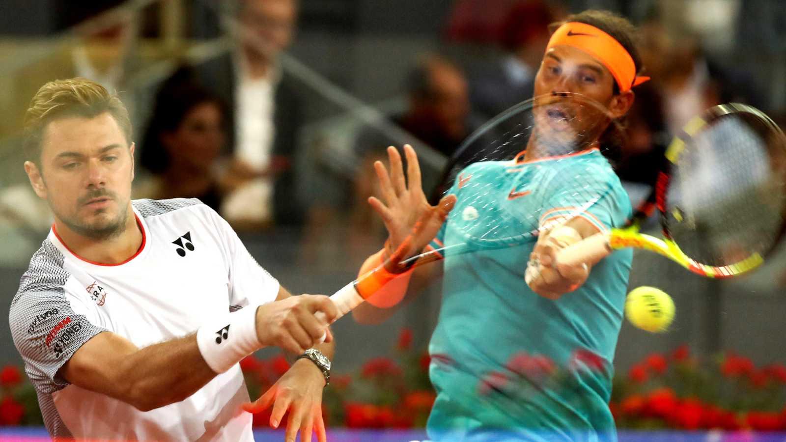 Resumen del partido de cuartos de final del Madrid Open: Nadal - Wawrinka (6-1 y 6-2)