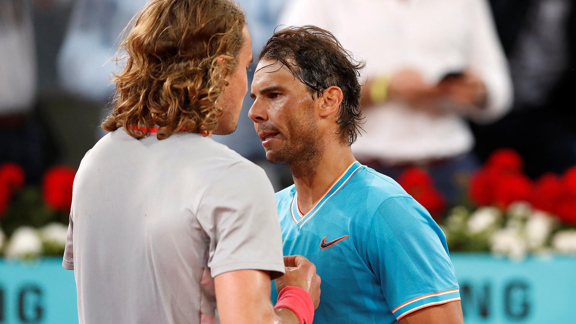 Resultado de imagen de Tsitsipas elimina a Nadal en Madrid