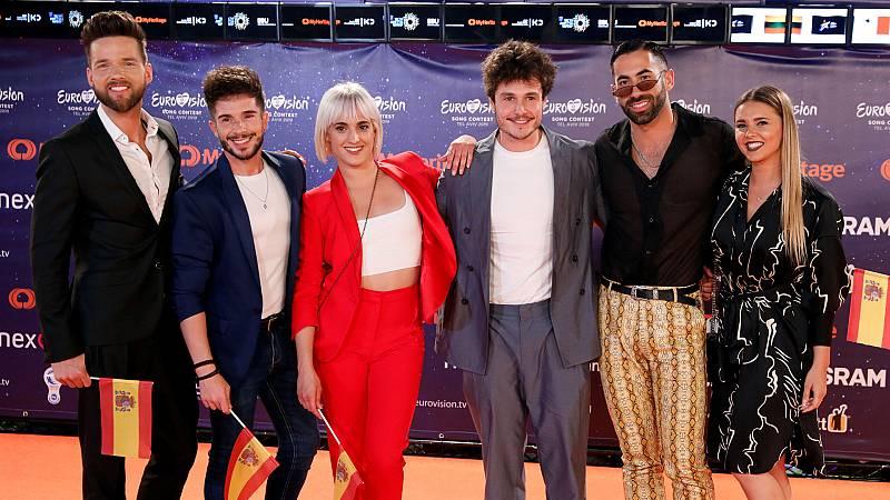 Miki llega a la Alfombra Naranja de la inauguración de Eurovisión 2019