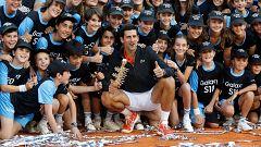 Djokovic celebra su tercer Madrid Open