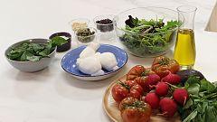 Hacer de comer - Ensalada caprese y solomillo ibérico al horno