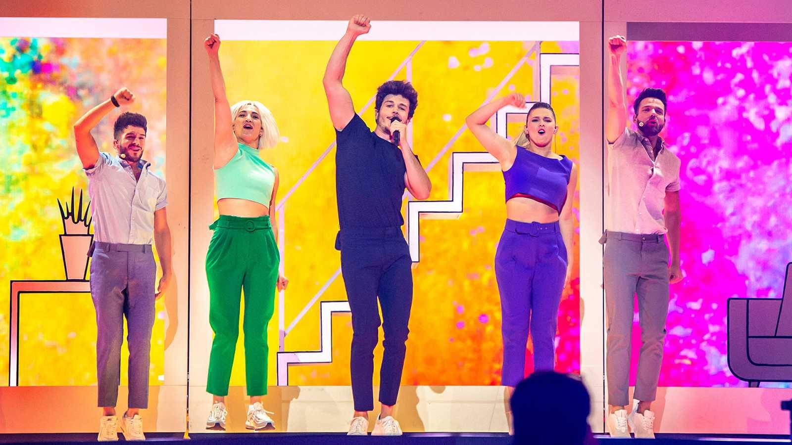 "Eurovisión 2019 - Miki ensaya ""La venda"" antes de la primera semifinal"