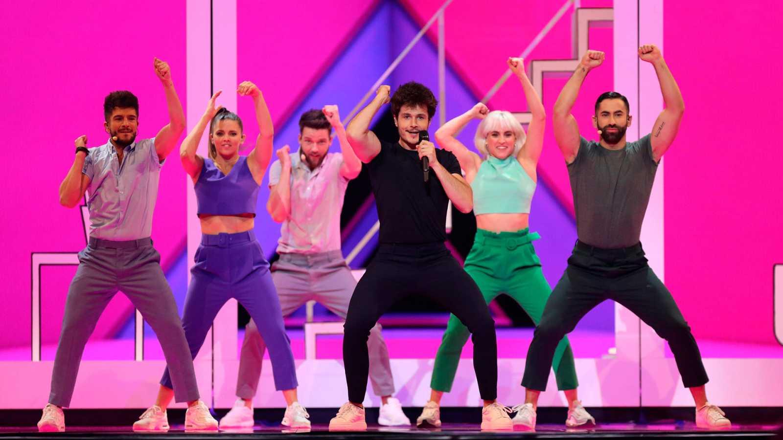 Eurovisión 2019 - Dos minutos de España en el ensayo general de la primera semifinal