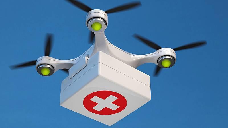 Un dron que salva vidas