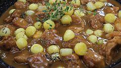 Hacer de comer - Ensalada de calabaza asada y cordero con patatas