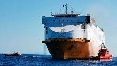 Un mercante italiano se incendia a 25 millas de Mallorca