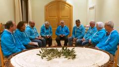 Pueblo de Dios - Siria: azul sobre negro