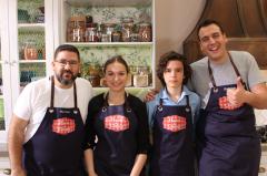 """Claudia y Mauro, de MasterChef Junior 2, visitan """"Hacer de Comer"""""""